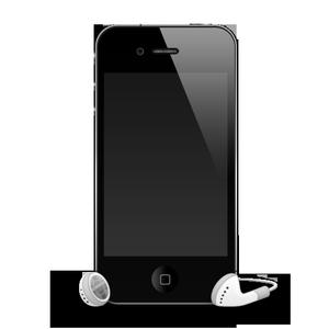 iPhone 4 с наушниками