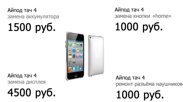 ремонт ipod touch цены