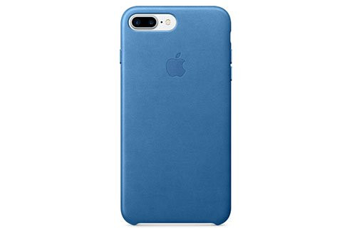 Чехол Apple Leather Case для iPhone 8/7 Plus «синее море»