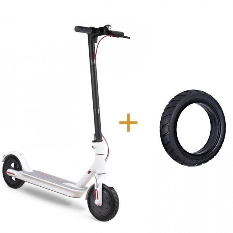 Xiaomi Mijia Electric Scooter M365 (+комплект покрышек) (White)