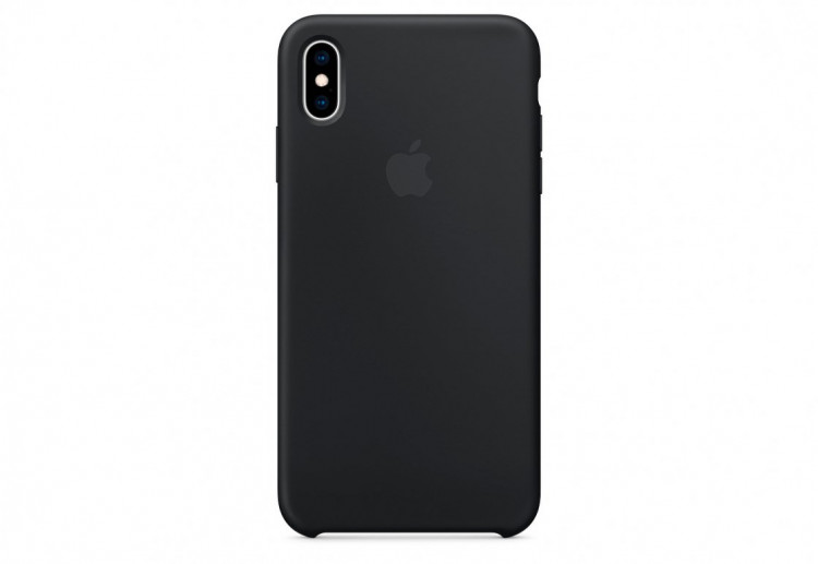 Чехол Apple Silicone Case для iPhone XS Max, чёрный