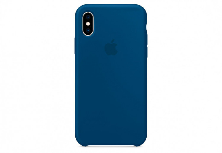 Чехол Apple Silicone Case для iPhone XS, «морской горизонт»