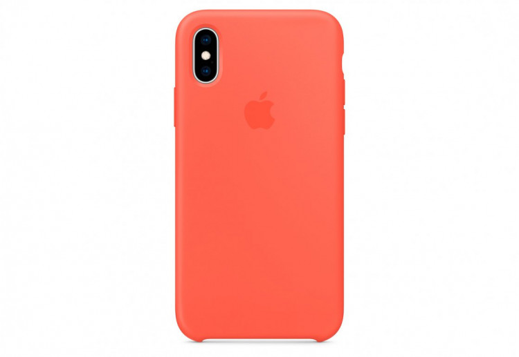 Чехол Apple Silicone Case для iPhone XS, «спелый нектарин»