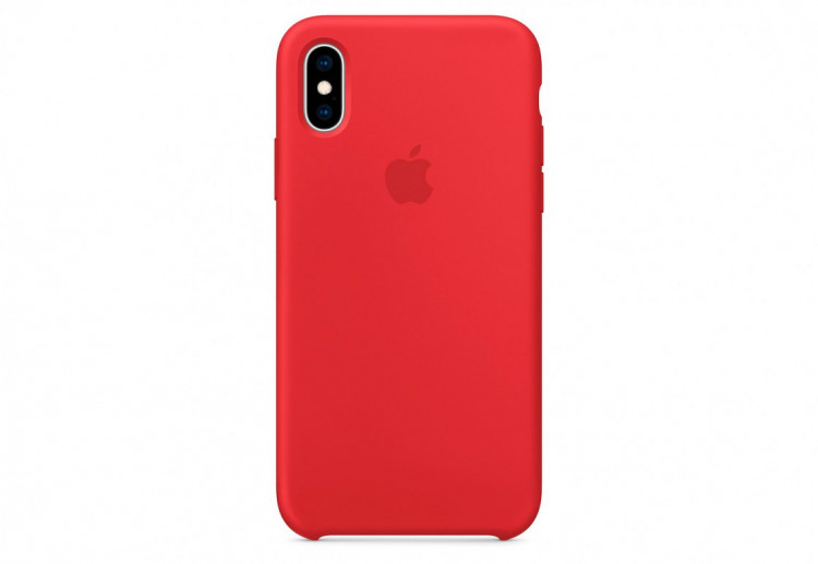 Чехол Apple Silicone Case для iPhone XS, (PRODUCT)RED