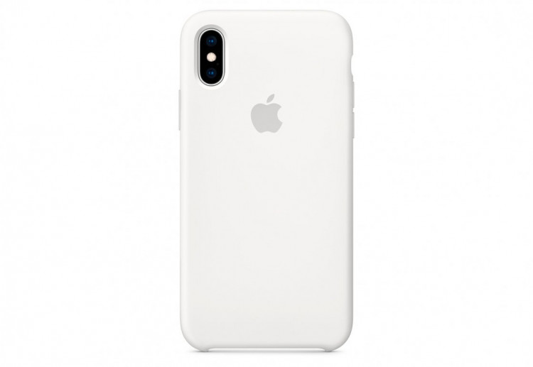 Чехол Apple Silicone Case для iPhone XS, белый